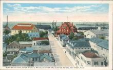 Vintage postcard, Key West Florida, Naval station and custom house, C.T. American Art, Frank Johnson