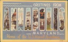 Vintage postcard, Annapolis, Maryland