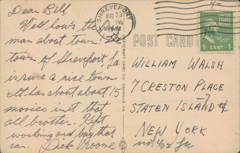 Vintage postcard, Private Breger, military cartoon, 1943