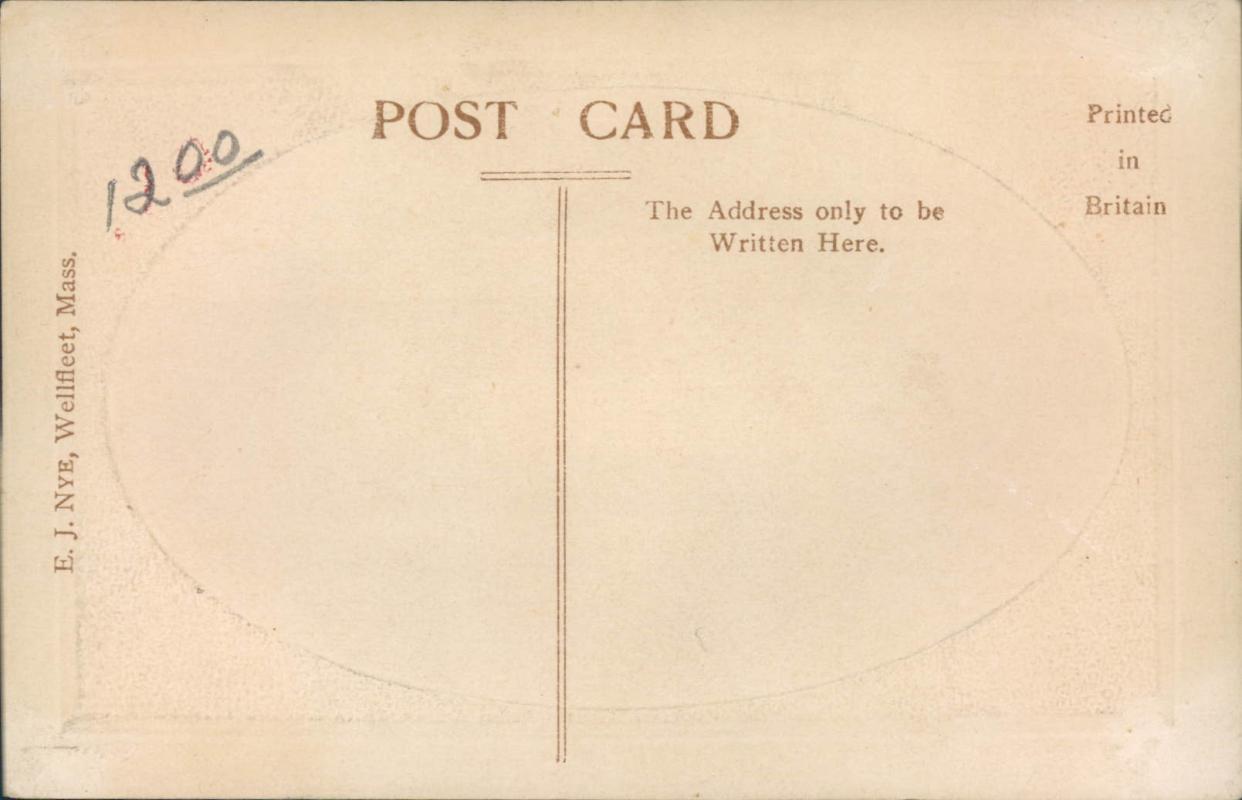 Vintage embossed framed postcard, Ship Jason