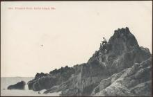 Brooklyn Postcard Company Pinnacle Rock Baily Island Maine Postcard 1917 #5964