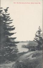 Brooklyn Postcard Company The Path Along the Shore Baily Island Maine Postcard 1917 #5958