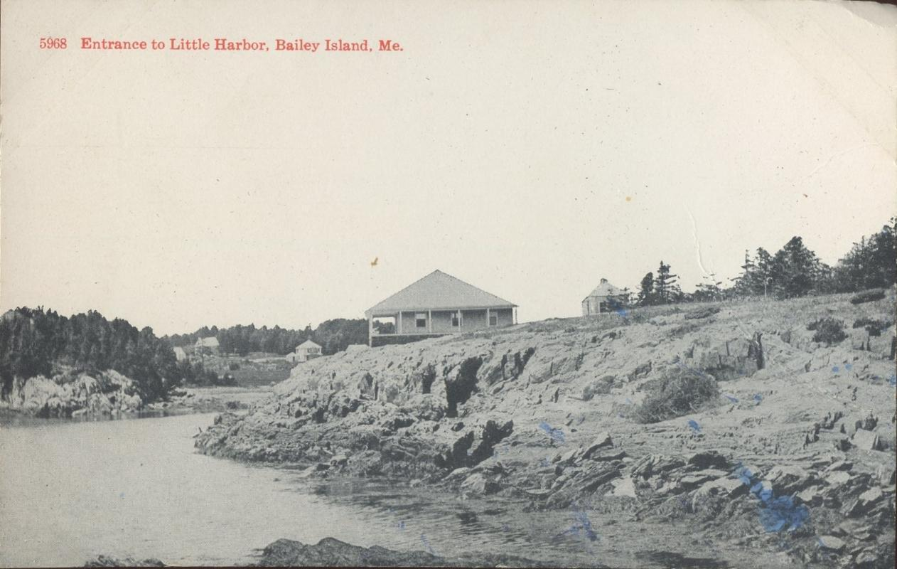 Brooklyn Postcard Company Enterence to Little Harbor Baily Island Maine Postcard 1917 #5968