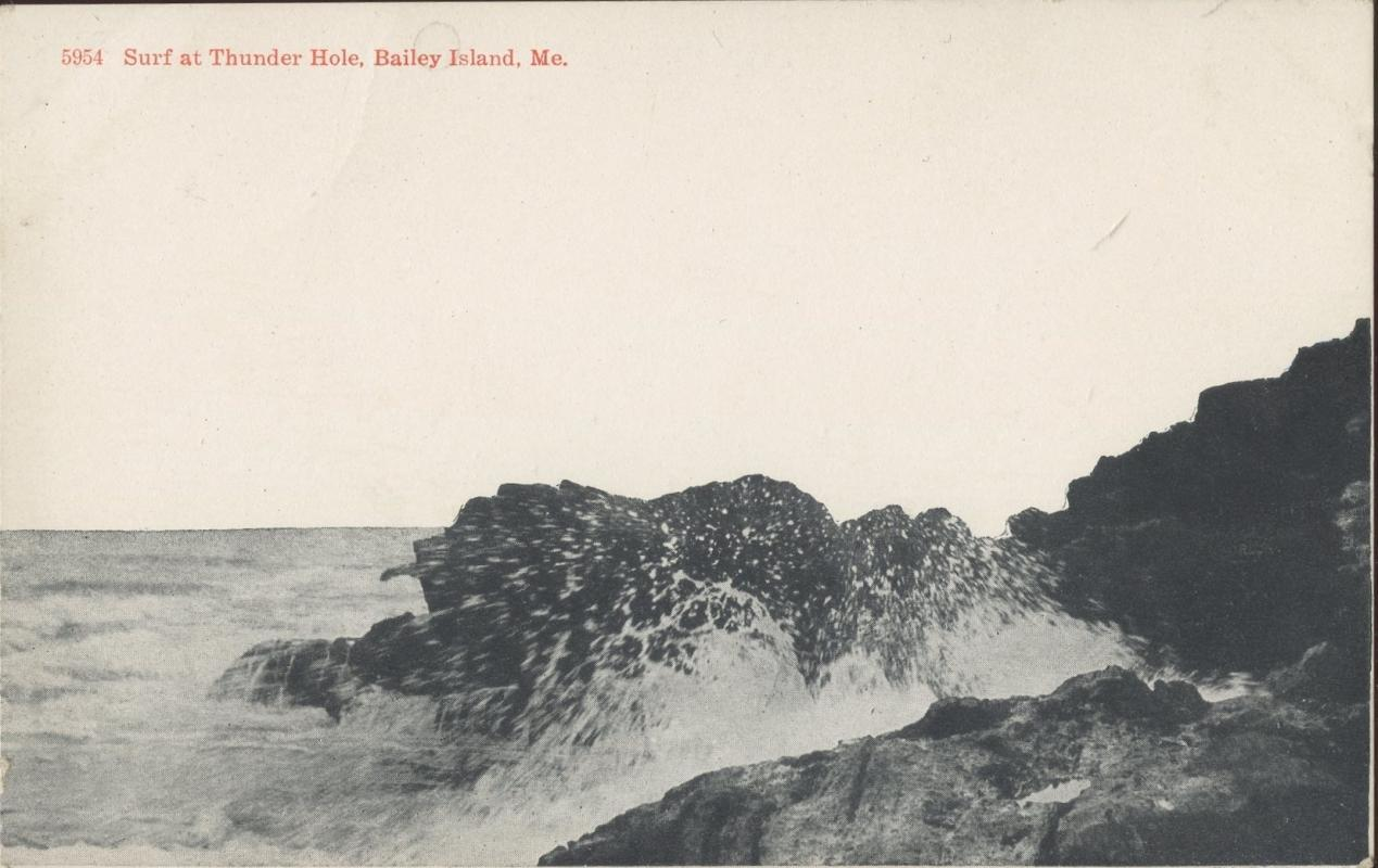 Brooklyn Postcard Company Surf at Thunder Hole Baily Island Maine Postcard 1917 #5954