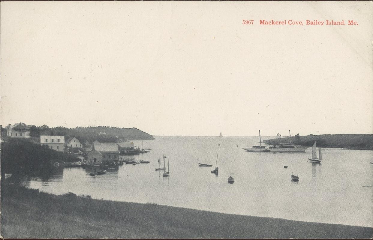 Brooklyn Postcard Company Mackeral Cove Baily Island Maine Postcard 1917 #5967