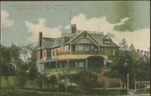 Mount Desert reading Room Eastern Yacht Club Bar Harbor Maine Postcard