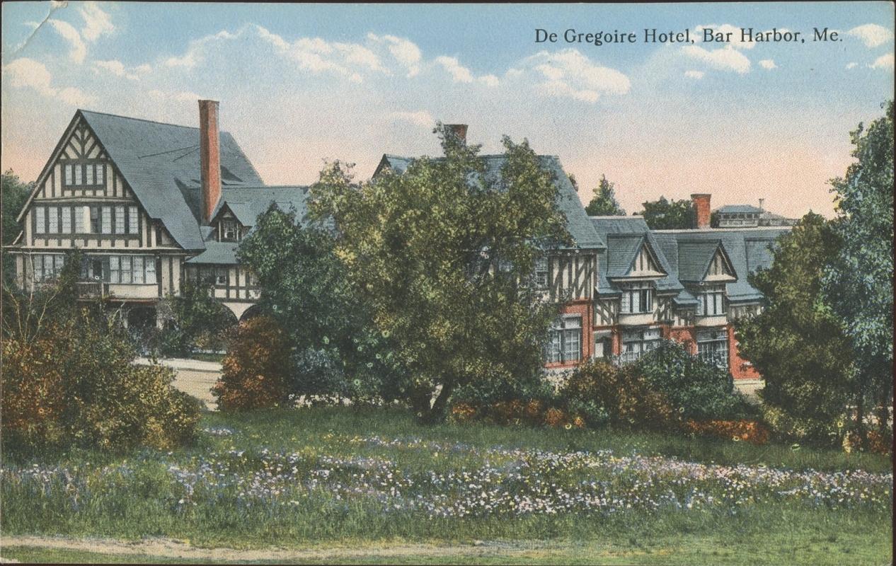DeGregoire Hotel Bar Harbor Maine Postcard