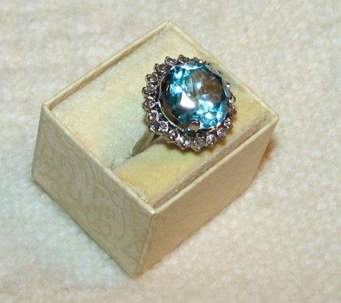 BEAUTIFUL ZIRCON & DIAMOND RING