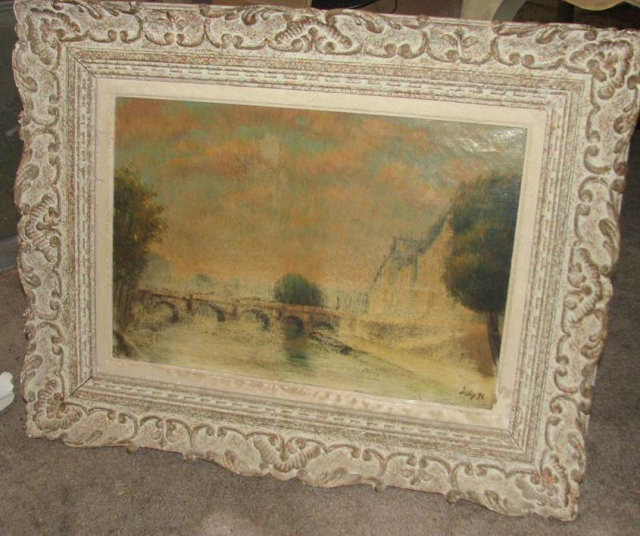 FRENCH SCHOOL OIL ON CANVAS - SIGNED SISLEY