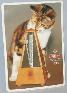 LARGE COLLECTIBLE STICKER - WITTNER METRONOME