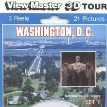 BEAUTIFUL WASHINGTON DC SET 1  - VIEWMASTER 3 REEL PACKET