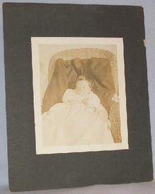LARGE VICTORIAN PHOTOGRAPH OF BABY