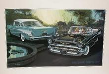 OUTSTANDING LITHOGRAPH FROM CHEVY DESIGNER;