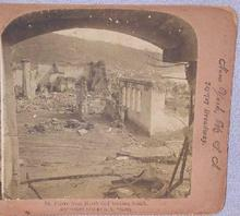 STEREOVIEW - RESULTS OF WEST INDIES VOLCANO
