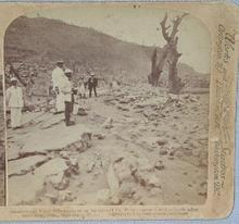 STEREOVIEW -  VOLCANO RUINS  IN ST. PIERRE