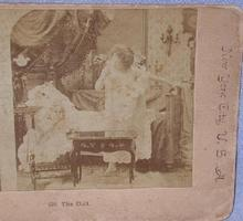 STEREOVIEW -  VICTORIAN GIRL & HER DOLL