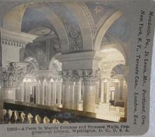 STEREOVIEW -  WASHINGTON CONGRESSIONAL LIBRARY