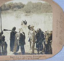 STEREOVIEW -   BAPTIZING IN THE JORDAN RIVER