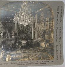 STEREOVIEW -   ROYAL PALACE RECEPTION ROOM AT FONTAINBLEAU, FRANCE