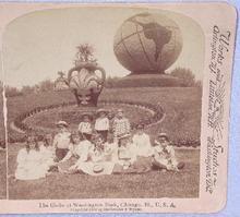 STEREOVIEW -  YOUNG KIDS AT WASHINGTON PARK