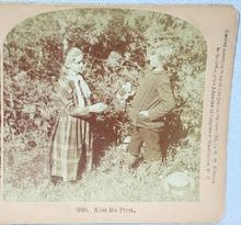 STEREOVIEW - TWO YOUNG LOVERS