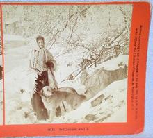 STEREOVIEW - GIRL AND HER DOG