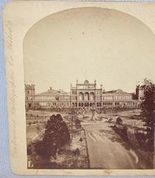 STEREOVIEW -  MAIN BUILDING AT THE PHILADELPHIA CENTENNIAL EXHIBITION