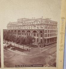 STEREOVIEW  -  U. S. HOTEL - SARATOGA SPRINGS, NEW YORK
