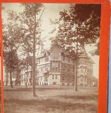 GREAT STEREOVIEW  -  MIDDLETOWN NEW YORK - INSANE ASYLUM