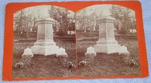 OLD STEREOVIEW -  CEMETARY HEADSTONE OF J. D. FOOTE