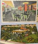 FOUR 1940s LINEN POSTCARDS
