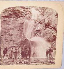 GURNSEY  - STEREOVIEW -  THREE FALLS, CHEYENNE CANON