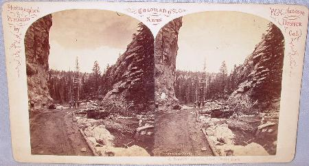 STEREOVIEW -  BOULDER CANON - COLORADO