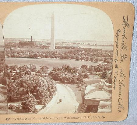 STEREOVIEW  -  WASHINGTON MONUMENT