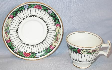 BEAUTIFUL  HANDPAINTED TEA CUP & SAUCER