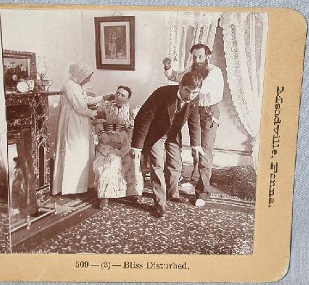 COMICAL STEREOVIEW  PAIR - BLISS DISTURBED