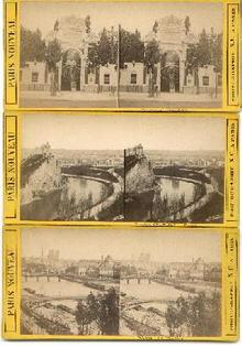 LATE 1800s STEREO VIEWS OF PARIS - SET OF THREE