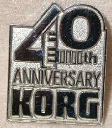 KORG 40TH ANNIVERSARY   - COLLECTIBLE LAPEL PIN