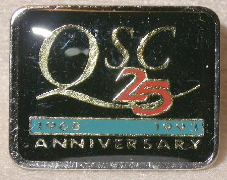 QSC 25th ANNIVERSARY    - COLLECTIBLE LAPEL PIN