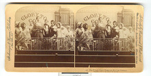 STEREOVIEW - COMICAL THE VILLAGE CHOIR - SET OF 2