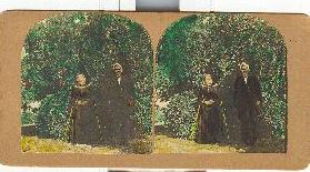 HANDCOLORED STEREOVIEW OF VICTORIAN COUPLE SET OF 2