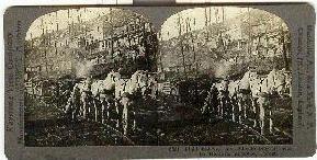 STEREOVIEW - WWI - LIGHT RAILWAY , LA HARAZEE, ARGONNE, FOREST
