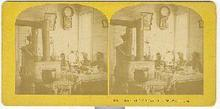 STEREOVIEW -INTERIOR OF U.S. ODSERVATORY, MT. WASHINGTON