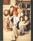 VERY EARLY COLOR  PHOTO OF THE FRIENDS CAST