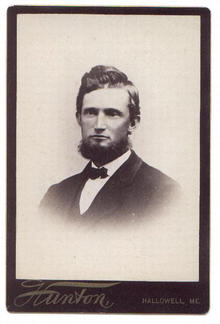 VICTORIAN PHOTOGRAPH OF MAN - (an Abraham Lincoln wanna be?)