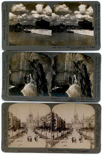 SET OF 3 STEREOVIEWS of EUROPE