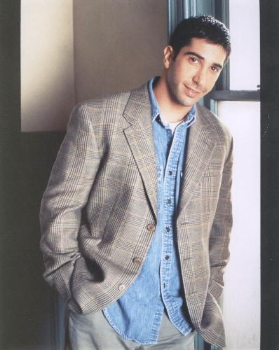 COLOR  PHOTO OF FRIENDS - DAVID SCHWIMMER