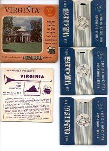 VIRGINIA - 3 REEL VIEWMASTER SET