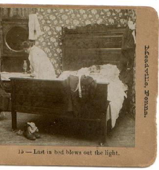 STEREO VIEW - LAST IN BED...