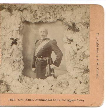 STEREOVIEW  OF GENERAL MILES - COMMANDER OF THE UNITED STATES ARMY
